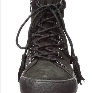 Black high top sneakers/ boots